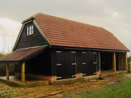 Completed timber framed Cart lodge