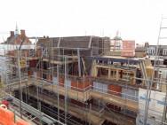 new build flats - exterior