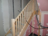 14 new build houses - staircase installation